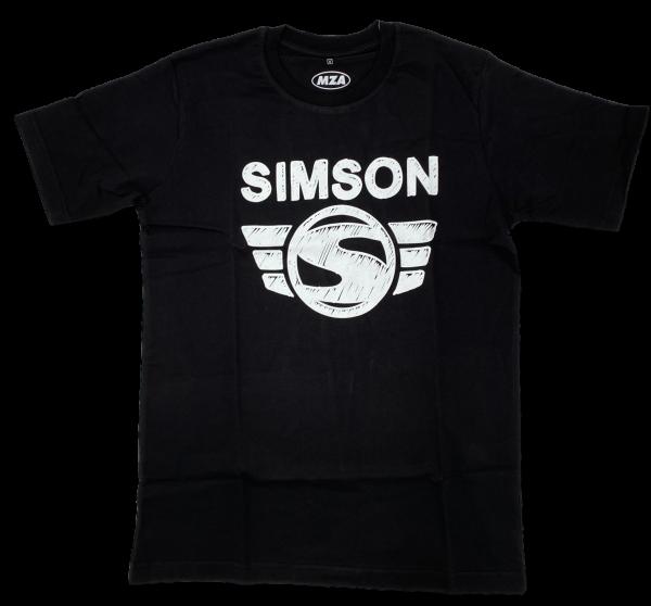 T-Shirt, Farbe: schwarz - Motiv: SIMSON - 100% Baumwolle